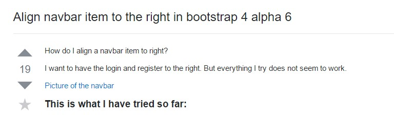 Adjust navbar  object to the right  inside Bootstrap 4 alpha 6