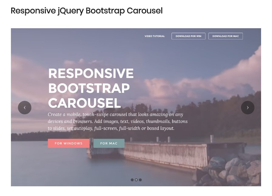 Image Carousel Bootstrap