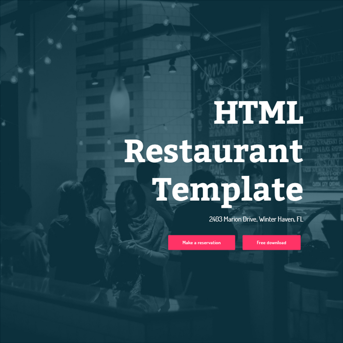 HTML5 Bootstrap Restaurant Themes