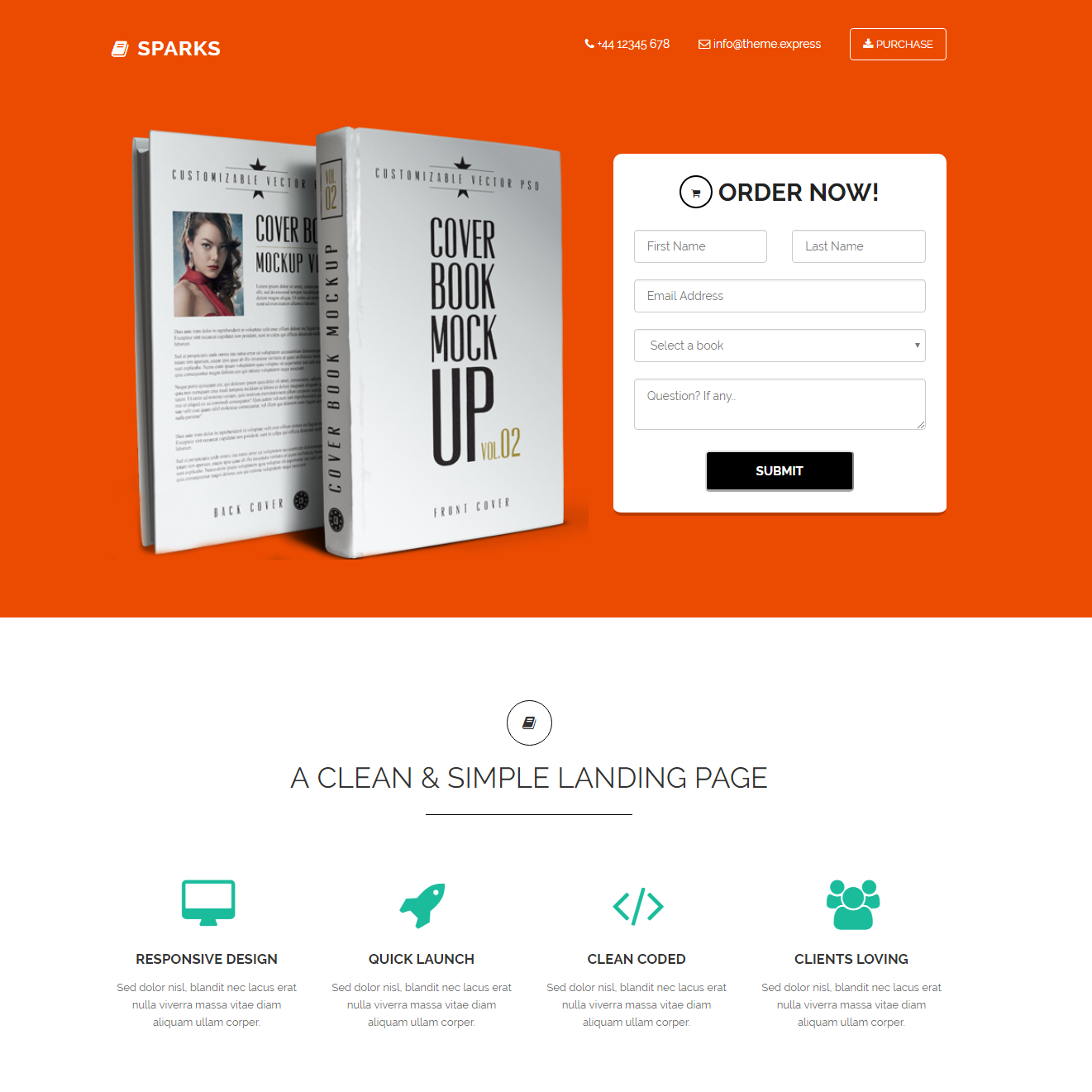Free Bootstrap Sparks Templates
