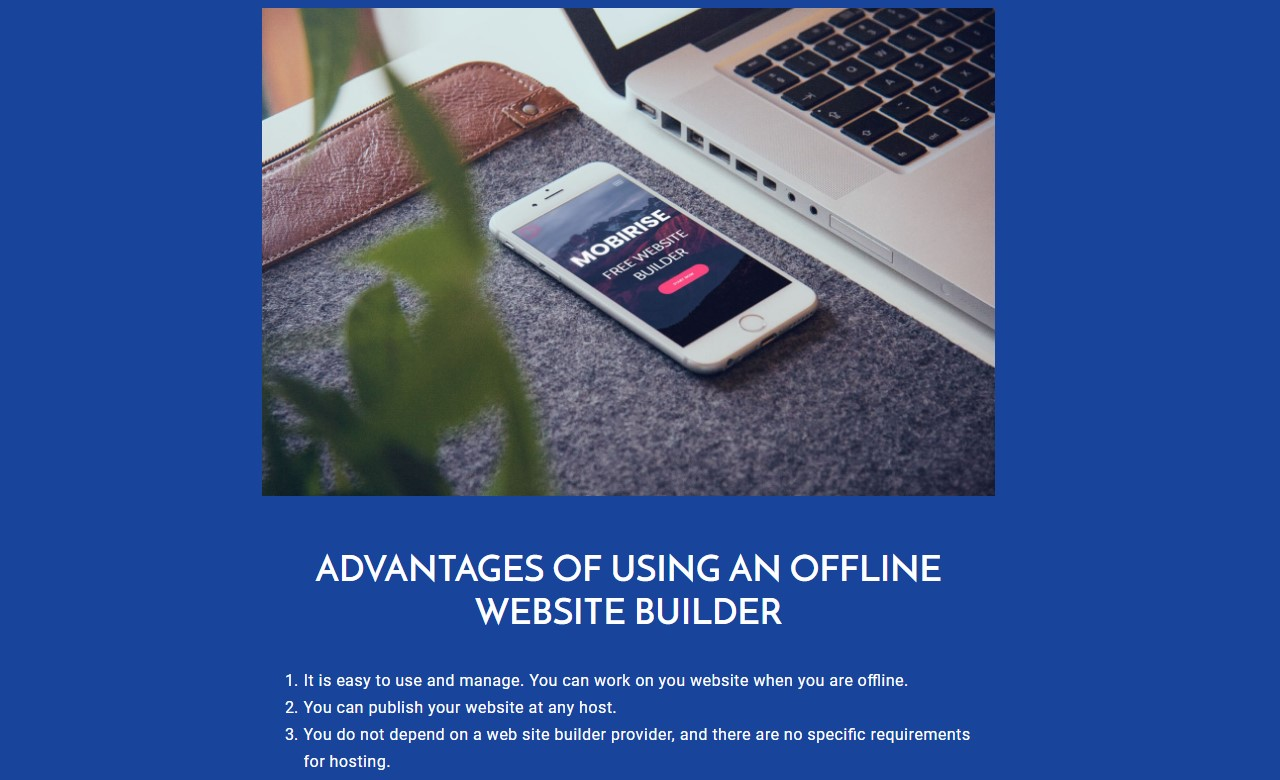 Offline website builder software Template