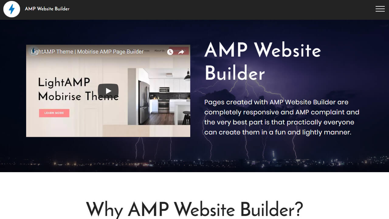 Free AMP Website Maker